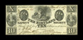 Obsoletes By State:Ohio, Kirtland, OH- The Kirtland Safety Society Bank $10 Mar. 1, 1837 G10Rust 8 Wolka 1424-12. The signatures on this note are of...