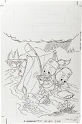 Original Comic Art:Covers, Huey, Dewey, and Louie Junior Woodchucks #47 Cover Original Art(Gold Key, 1977). ...