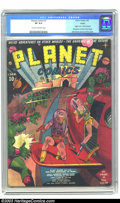 Golden Age (1938-1955):Science Fiction, Planet Comics #1 Toledo pedigree (Fiction House, 1940) CGC VF 8.0Cream to off-white pages. Here is the first issue of Ficti...