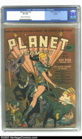 Golden Age (1938-1955):Science Fiction, Planet Comics #21 Rockford pedigree (Fiction House, 1942) CGC VF8.0 Cream to off-white pages. Reef Ryan shares cover billin...