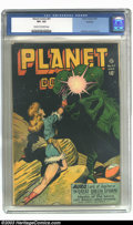 Golden Age (1938-1955):Science Fiction, Planet Comics #47 Rockford pedigree (Fiction House, 1947) CGC VF+8.5 Cream to off-white pages. One of Joe Doolin's best cov...