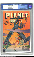 Golden Age (1938-1955):Science Fiction, Planet Comics #48 (Fiction House, 1947) CGC NM- 9.2 Off-white towhite pages. You like big robots? We've got a big robot...