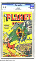 Golden Age (1938-1955):Science Fiction, Planet Comics #61 Lost Valley pedigree (Fiction House, 1949) CGCNM- 9.2 White pages. A flying girl with a ray gun blasts th...