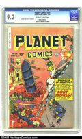 Golden Age (1938-1955):Science Fiction, Planet Comics #63 (Fiction House, 1949) CGC NM- 9.2 Off-white towhite pages. This pretty copy comes from near the end of th...