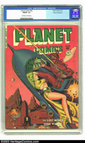 Golden Age (1938-1955):Science Fiction, Planet Comics #65 Cosmic Aeroplane pedigree (Fiction House, 1951) CGC FN/VF 7.0 Off-white to white pages. This beautiful, pe...