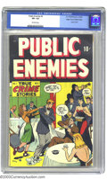 Golden Age (1938-1955):Crime, Public Enemies #2 Mile High pedigree (D.S. Publishing, 1948) CGC VF+ 8.5 Off-white pages. This issue was featured in Frederi...