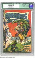 Golden Age (1938-1955):War, Rangers Comics #17 Pennsylvania pedigree (Fiction House, 1944)Qualified NM+ 9.6 Off-white to white pages. As with most of F...