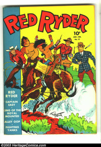 Red Ryder Comics #17 Hawkeye pedigree (Dell, 1944) Condition: VF-. This fun Fred Harman cover features Red Ryder, Little...