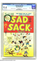 Golden Age (1938-1955):Cartoon Character, Sad Sack Comics #3 File Copy (Harvey, 1950) CGC NM 9.4 Cream tooff-white pages. The January 1950 issue featured a Santa Sac...