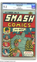 Golden Age (1938-1955):Superhero, Smash Comics #3 Mile High pedigree (Quality, 1939) CGC VF+ 8.5Off-white pages. In most cases finding a book from 1939 in th...