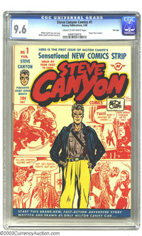 Steve Canyon #1 File Copy (Harvey Publications, 1948) CGC NM+ 9.6 Cream to off-white pages. Milton Caniff's second most...