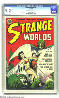 Golden Age (1938-1955):Science Fiction, Strange Worlds #1 (Avon, 1950) CGC NM- 9.2 Off-white to whitepages. Avon presented some of the earliest sci-fi titles, and,...