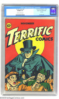 Golden Age (1938-1955):Crime, Terrific Comics #6 Mile High pedigree (Continental Magazines, 1944) CGC VF/NM 9.0 Off-white to white pages. Continentals are...