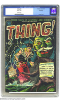 Golden Age (1938-1955):Horror, The Thing! #4 Bethlehem pedigree (Charlton, 1952) CGC VF+ 8.5Off-white pages. Al Fago's garishly colored ghoulish cover att...
