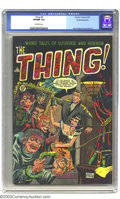 Golden Age (1938-1955):Horror, The Thing! #8 White Mountain pedigree (Charlton, 1953) CGC VF/NM9.0 Off-white pages. Think it's bad when your relatives com...