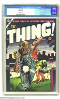 Golden Age (1938-1955):Horror, The Thing! #16 (Charlton, 1954) CGC NM 9.4 Off-white pages. This isone of the best pre-code titles with lots of excessive v...