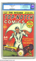 Golden Age (1938-1955):Superhero, Top-Notch Comics #1 Mile High pedigree (MLJ, 1939) CGC VF+ 8.5 White pages. This historic MLJ first issue features the origi...