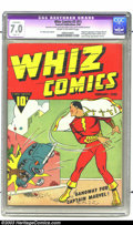 Golden Age (1938-1955):Superhero, Whiz Comics #2 (#1) (Fawcett, 1940) CGC Apparent FN/VF 7.0 Slight (P) Cream to off-white pages. Holy Moley! The origin and f...