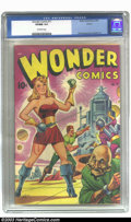 """Golden Age (1938-1955):Superhero, Wonder Comics #17 Aurora pedigree (Better Publications, 1948) CGC VF/NM 9.0 Off-white pages. If we were to mention """"Classic ..."""