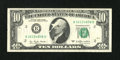 Error Notes:Obstruction Errors, Fr. 2023-B $10 1977 Federal Reserve Note. Extremely Fine.. ...