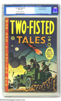 Golden Age (1938-1955):War, Two-Fisted Tales #23 Kurtzman File pedigree (EC, 1951) CGC VG+ 4.5Light tan to off-white pages. Here's the sixth issue of ...