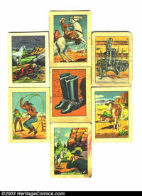 Hopalong Cassidy Wild West trading cards group of 25 (Post Cereals, 1951) Condition: Average FN. From the set of 36 prem...
