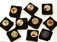 Kelloggs Pep Buttons Group (Kelloggs, 1943-46). Kids during the World War II era were treated to these cool little pin-b...