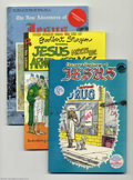 Bronze Age (1970-1979):Alternative/Underground, Jesus Miscellaneous Comics Group (Rip Off Press, 1969) Condition: FN. Religion has been the subject of all kinds of satire o... (Total: 3 Comic Books Item)