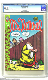 Mr. Natural #2 (Apex Novelties, 1971) CGC NM 9.4 Off-white pages. Robert Crumb's best, most fully developed character (o...