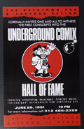 Silver Age (1956-1969):Alternative/Underground, Skip Williamson - Poster for First Annual Underground Comix Hall ofFame Group of 55 (Bucktown Pub, 1991). As depicted on th... (Total:55 Item)