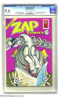 Bronze Age (1970-1979):Alternative/Underground, Zap Comix #6 (Apex Novelties, 1973) CGC NM+ Off-white to white pages. An early edition of the ground-breaking underground an...