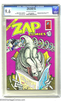 Zap Comix #6 (Apex Novelties, 1973) CGC NM+ Off-white to white pages. An early edition of the ground-breaking undergroun...