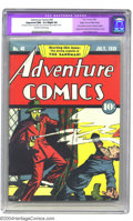 Golden Age (1938-1955):Superhero, Adventure Comics #40 Mile High pedigree (DC, 1939) CGC Apparent NM- 9.2 Slight (A) Off-white to white pages. This elusive ra...