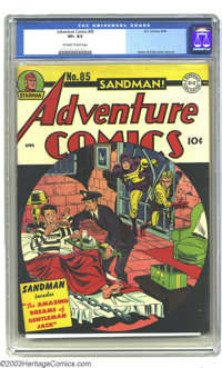 """Adventure Comics #85 (DC, 1943) CGC VF+ 8.5 Off-white to white pages. Sandman (and Sandy) invade """"The Amazing Dream..."""