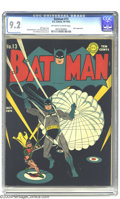 Golden Age (1938-1955):Superhero, Batman #13 (DC, 1942) CGC NM- 9.2 Off-white to white pages. Jerry Robinson offers one of his typically understated masterpie...