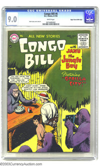 Congo Bill #6 Mile High pedigree (DC, 1955) CGC VF/NM 9.0 White pages. DC's from the mid-1950s are nearly impossible to...