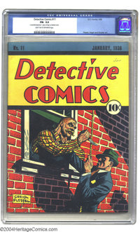 Detective Comics #11 (DC, 1938) CGC FN- 5.5 Light tan to off-white pages. Everyone loves Batman, and with good reason, b...