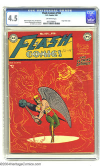 Flash Comics #104 (DC, 1949) CGC VG+ 4.5 Off-white pages. Joe Kubert was really beginning to get his distinctive art sty...