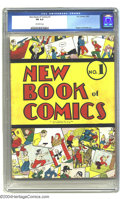 """Golden Age (1938-1955):Humor, New Book of Comics #1 (DC, 1937) CGC FN 6.0 Off-white pages. Listed as """"rare"""" by Overstreet, this book is the first regular ..."""