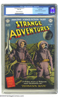 "Golden Age (1938-1955):Science Fiction, Strange Adventures #1 Windy City pedigree (DC, 1950) CGC FN 6.0Cream to off-white pages. A ""Destination Moon"" movie adaptat..."