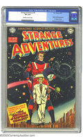 Golden Age (1938-1955):Science Fiction, Strange Adventures #9 (DC, 1951) VF+ 8.5 Off-white to white pages.The first appearance and origin of Captain Comet is the h...