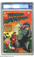 "Golden Age (1938-1955):Science Fiction, Strange Adventures #11 (DC, 1951) CGC VF+ 8.5 Off-white to whitepages. Captain Comet takes on monsters ""from the dawn of ti..."