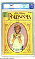 """Silver Age (1956-1969):Adventure, Four Color #1129 """"Pollyanna"""" (Dell, 1960) CGC VF/NM 9.0 Off-white pages. Hayley Mills photo cover. Tied with one other copy ..."""