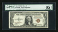 Small Size:World War II Emergency Notes, Fr. 2300 $1 1935A Hawaii Silver Certificate. PMG Gem Uncirculated 65 EPQ.. ...
