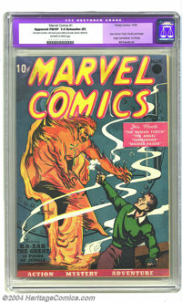 Marvel Comics #1 (Timely, 1939) CGC Apparent FN/VF 7.0 Extensive (P) Off-white to white pages. The first Timely continue...