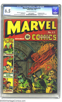 """Marvel Mystery Comics #13 (Timely, 1940) CGC FN+ 6.5 Cream to off-white pages. """"Sensational New Feature"""" the V..."""
