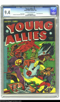 """Golden Age (1938-1955):Superhero, Young Allies Comics #4 (Timely, 1942) CGC NM 9.4 Off-white to white pages. This Red Skull cover is considered """"classic"""" by O..."""