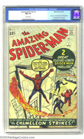 Silver Age (1956-1969):Superhero, Amazing Spider-Man #1 (Marvel, 1963) CGC NM 9.4 Off-white pages. Wow! A stunning copy with razor-sharp corners, a beautiful ...
