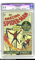 Silver Age (1956-1969):Superhero, Amazing Spider-Man #1 (Marvel, 1963) CGC Apparent VF 8.0 Cream to off-white pages. Face front true believers, here's the fir...
