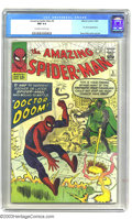 Silver Age (1956-1969):Superhero, Amazing Spider-Man #5 (Marvel, 1963) CGC NM 9.4 Off-white to whitepages. A terrific copy of one of Steve Ditko's great earl...
